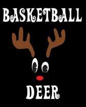 Basketball Deer: Deer Elk Antler Hunting Hobby 2020 Monthly Planner Dated Journal 8'' x 10'' 110 pages