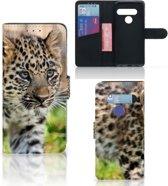 LG G8s Thinq Telefoonhoesje met Pasjes Baby Luipaard