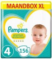 Pampers Premium Protection Maat 4 - 156 Luiers Maandbox XL