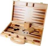 Longfield Games Backgammon 15 Inch - Ingelegd Hout