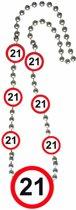 Ketting 21 Jaar Verkeersbord