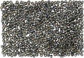 Rocailles, afm 15/0 mm, d: 1,7 mm, 500 gr, grey green