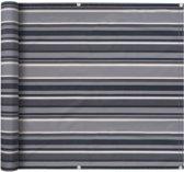 vidaXL Balkonscherm 90x400 cm oxford stof streep grijs