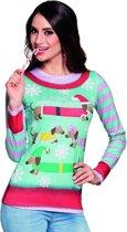 Shirt kerst opdruk dames S