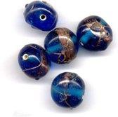 30 Stuks Hand-made Jewelry Beads - Rond -  Transparant Blauw
