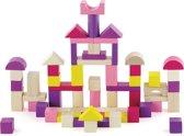 Bouwblokken in ton- Lila & Roze - 60 st