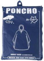 Bo-trail Poncho - Eva - Volwassenen - Blauw