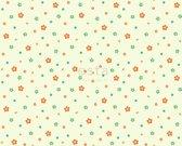 ESTAhome stof bloemen limegroen