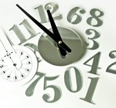 Wandklok met spiegeleffect zelfklevend horloge murale