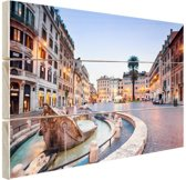 Piazza di Spagna Rome Hout 80x60 cm - Foto print op Hout (Wanddecoratie)