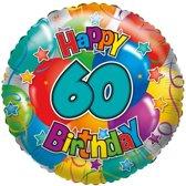 Folie ballon 60 Happy Birthday 35 cm - Folieballon verjaardag 60 jaar 35 cm