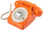 GPO 746ROTARYORA Telefoon met draaischijf klassiek jaren '70 ontwerp