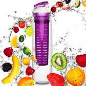 #DoYourFitness - Fruitwater fles - »FruitBottle« - Fruit infuser voor fruitpunches / groente spritzers - 800ml - lila