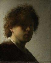 Rembrandt Harmensz. van Rijn - Zelfportret - 105x130cm Textielframe