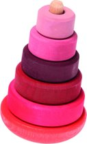 Grimm's Pink Wobbly Stacking Tower