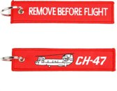 "Sleutelhanger ""Remove Before Flight & Chinook"""
