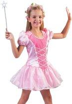Roze prinsessen verkleed jurkje voor meisjes - carnavalskleding voor kinderen 128 (7 jaar)