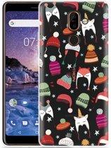 Nokia 7 Plus Hoesje Winter Hats