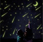 Glow in the Dark - Sticker - Muursticker - Sterren - Maan - Vallende sterren
