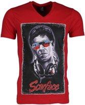 Mascherano T-shirt - Scarface - Rood - Maat: L