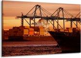 Canvas schilderij Boot   Bruin, Zwart   140x90cm 1Luik