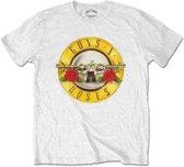 Guns n Roses Heren Tshirt -XL- Classic Logo Wit