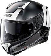 Nolan N87 Plus Distinctive 23 Flat Black Silver White  Integraalhelm - Motorhelm - Maat L