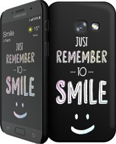 i-Paint cover Smile - zwart - voor Samsung A3 2017