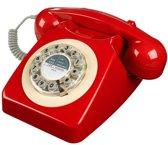Wild & Wolf 746 - Retro telefoon - Rood