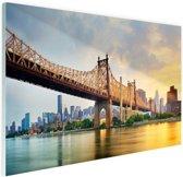 FotoCadeau.nl - Queensboro Bridge New York Glas 90x60 cm - Foto print op Glas (Plexiglas wanddecoratie)