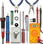 XXL Soldeerbout Set Met Accessoires - Soldeerapparaat Fijnsoldeerbout - Soldeerset Met Houder & Desoldeerpomp Set & Multimeter