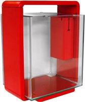 SuperFish Home Aquarium - 33x25x42 cm - 25L - Rood