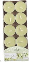 Geur theelichtjes meloen groen 10 stuks