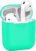 Afbeelding van Siliconen Bescherm Hoesje Cover Hoes voor Apple AirPods Case Mintgroen