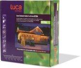 Luca Lighting - Snoer extra Icicle Luca Connect XP  lengte 3 meter hoogte 40 cm met 50 lampjes - Warm wit
