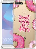 Huawei Y6 2018 Hoesje Donut Worry