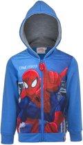 Spiderman Hoodie met rits. Maat: 104 cm / 4 jaar