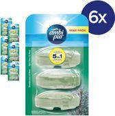 Ambi Pur Tea Tree & Pine Navulling - Voordeelverpakking 3x6 Stuks - Toiletblok