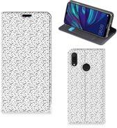 Huawei Y7 hoesje Y7 Pro (2019) Hoesje met Magneet Stripes Dots