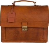BURKELY Heren Aktetas - 15 inch Laptoptas - Cognac