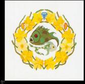 Thea Gouverneur Borduurpakket 851A Sterrenbeeld Vissen - Aida stof 100% katoen