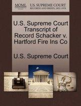 U.S. Supreme Court Transcript of Record Schacker V. Hartford Fire Ins Co