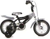 Popal Bike 2 Fly 12k - Kinderfiets - 12 Inch - Jongens - Zilver/Zwart