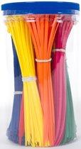 Kabelbinders / Ty-raps / Bundelbandjes, 9 trendy kleuren, 4,8x200mm,450 stuks