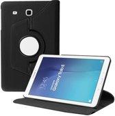 SMH Royal - Geschikt voor Samsung Galaxy Tab E 9.6 inch SM - T560 / T561 Tablet Case met 360° draaistand Cover / hoesje - Zwart