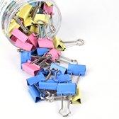 Kleurrijke paperclips, 41 mm, 24 stuks Gemengde kleuren.