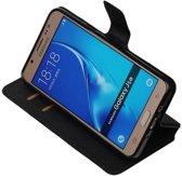 Zwart Samsung Galaxy J5 2016 TPU wallet case - telefoonhoesje - smartphone hoesje - beschermhoes - book case - booktype hoesje HM Book