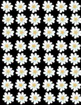Floral Pattern White Yellow Flowers Notebook