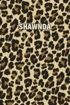 Shawnda: Personalized Notebook - Leopard Print (Animal Pattern). Blank College Ruled (Lined) Journal for Notes, Journaling, Dia