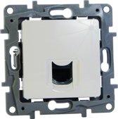 Legrand NILOÉ inbouw RJ45 UTP CAT6 stopcontact - enkelvoudig - wit